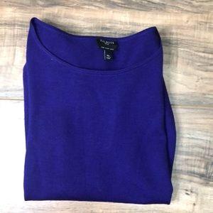 Talbots sz MP Merino Wool purple sweater light